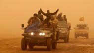 Schiitische Kämpfer in der Nähe von Mossul