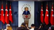 Erdogan nach Schließung der Wahllokale