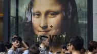 Poster der Mona Lisa von Leonardo da Vinci in Singapur