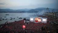 Massenhafte Unterstützung: Hunderttausende versammelten sich bei einer Wahlkampfveranstaltung von Erdogans politischem Gegenspieler Muharrem Ince am Donnerstag in Izmir.