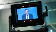 Ständig unter Beobachtung: Mario Draghi, der Präsident der Europäischen Zentralbank.