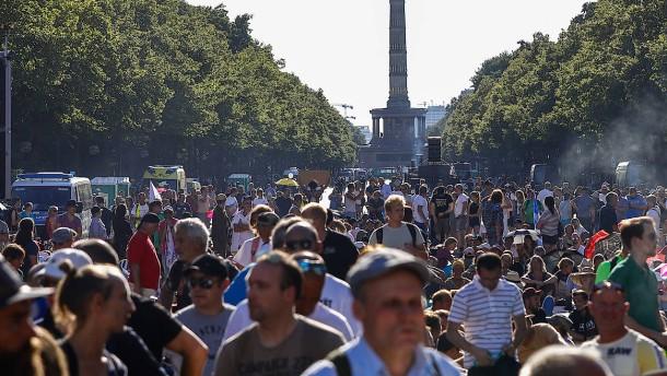 Corona-Demonstration in Berlin verboten