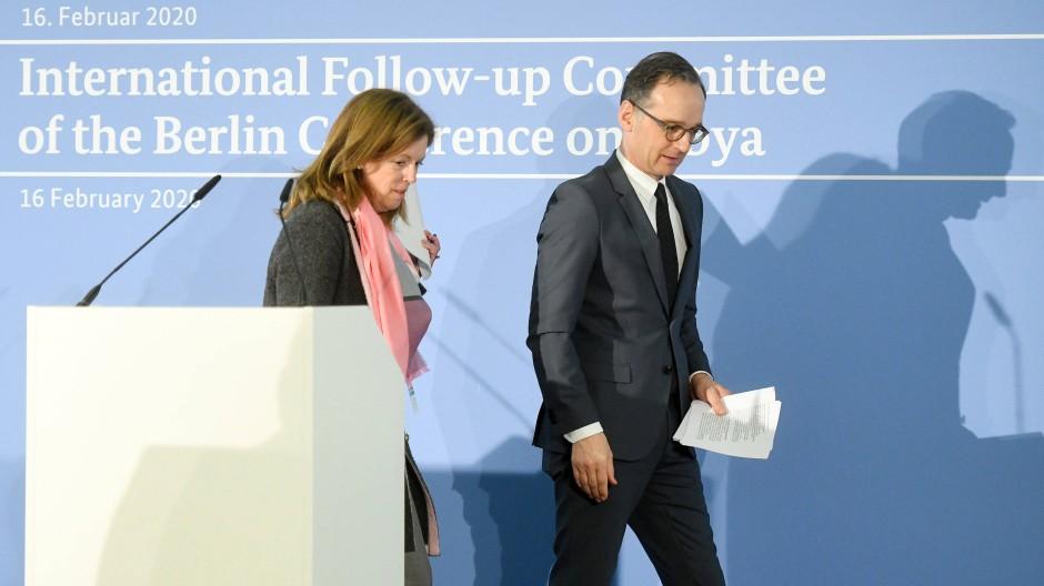 Außenminister Heiko Maas mit der stellvertretenden UN-Sondergesandten für Libyen Stephanie Williams