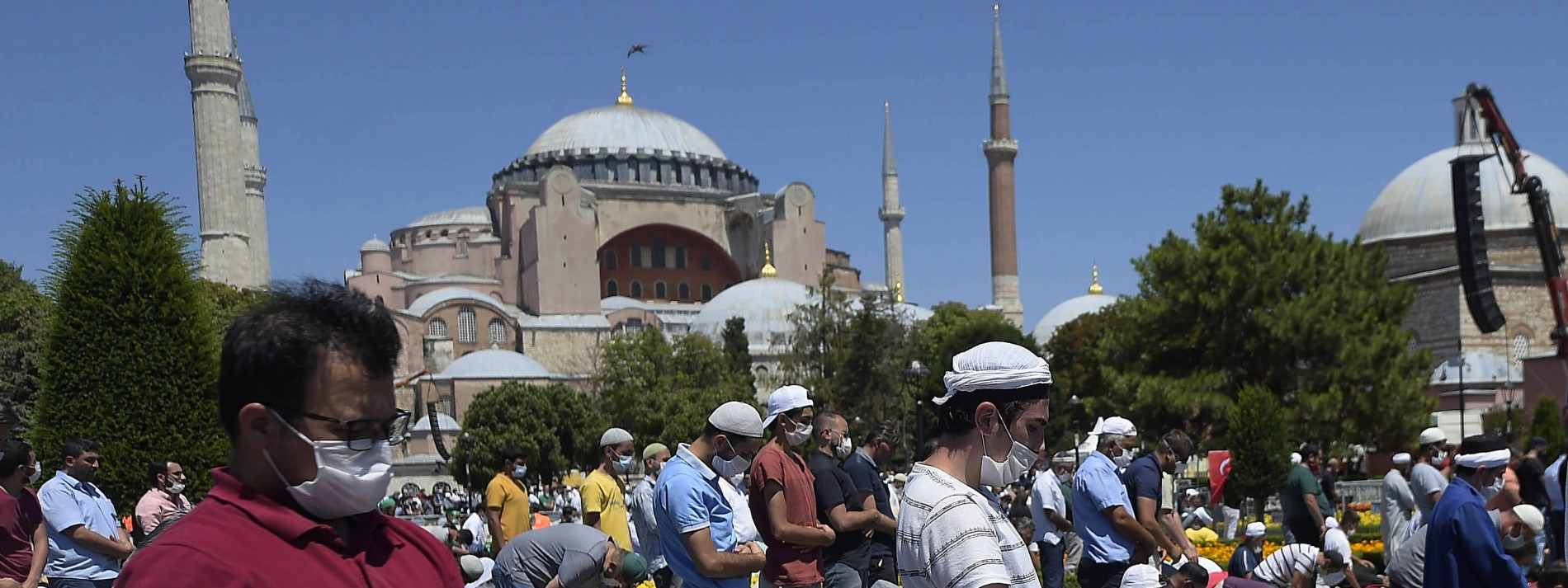 Erstmals wieder Freitagsgebet in Hagia Sophia