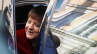 """""""Dieser Konflikt ist militärisch nicht zu gewinnen"""": Bundeskanzlerin Merkel am Samstag bei ihrer Ankunft in München"""