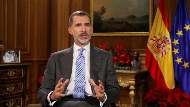 Spaniens König warnt katalanische Abgeordnete