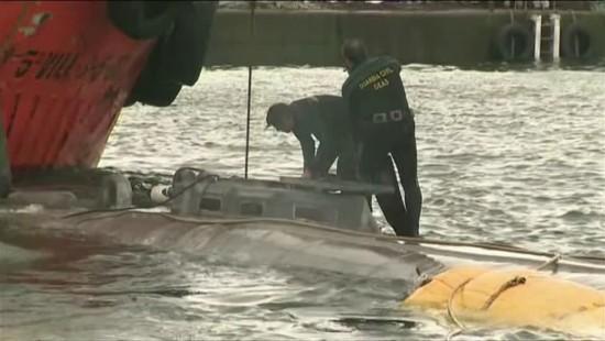 Mutmaßliches Drogen-U-Boot in Spanien geborgen