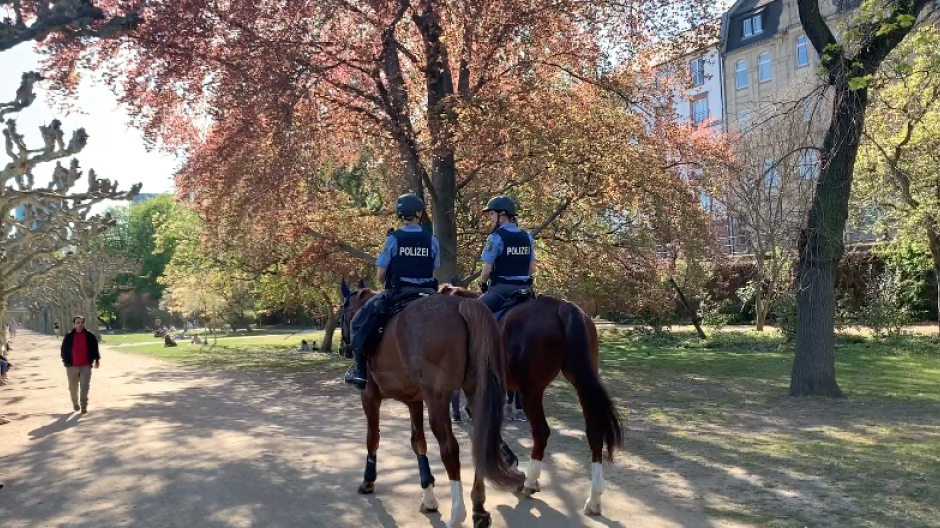Die Reiterstaffel der Polizei