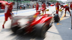 Ferrari geht in die Luft
