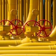 Gasleitungen an einer Kompressorstation in Velke Kapusany (Slowenien)