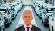 VW-Chef Matthias Müller im Volkswagen-Werk in Wolfsburg.