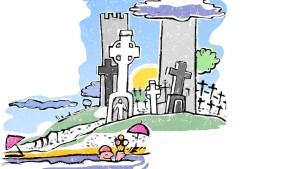 Auf Michael Collins' Grab liegen immer Blumen und Liebeskarten