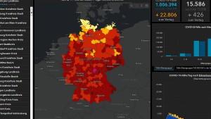 Hotspot-Kreis Hildburghausen leuchtet pink