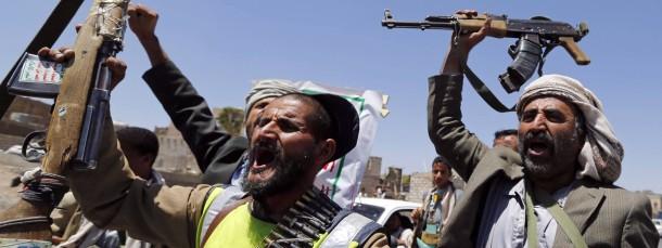 Schiitische Rebellen haben auch in der jemenitischen Hauptstadt Sanaa Checkpoints errichtet.