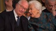 Der frühere belgische König Albert II. mit seiner Frau Königin Paolo
