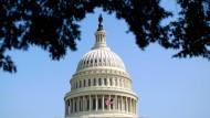 Die Kuppel des Kapitols in Washington, wo mit dem Kongress die Legislative Amerikas sitzt.