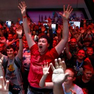 Begeisterte Besucher auf der Gamescom in Köln