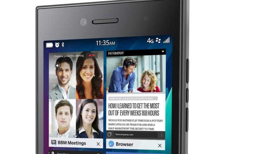 Das Blackyberry Leap soll junge Gutverdiener überzeugen.