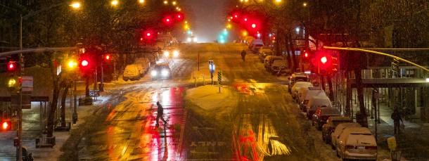 Nichts geht mehr auf den Straßen von New York
