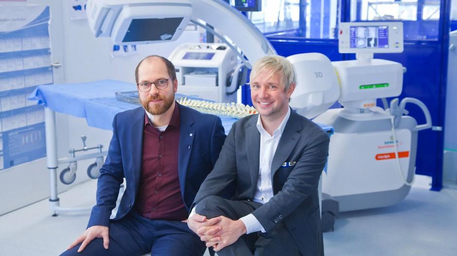 Knochenbrecher von Beruf: Robert Holz (links) und Marc Ebinger