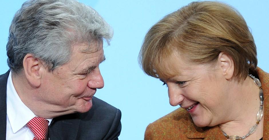 Pastor und Pastorentochter an der Spitze der Bundesrepublik: Präsident Gauck und Kanzlerin Merkel