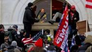 Szene während der Erstürmung des Kapitols am 6. Januar
