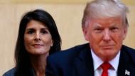 Amerikas UN-Botschafterin Nikki Haley (hier im September bei einer UN-Sitzung in New York) ist der Meinung, man solle den Vorwürfen gegen Donald Trump nachgehen.
