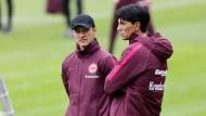 Erfolgreiches Duo: Eintracht-Coach Niko Kovac und Sportdirektor Bruno Hübner können mit derzeit 18 Punkten und Platz 7 ein positives Zwischenfazit ziehen.