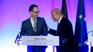 Jean-Yves Le Drian (r) und Heiko Maas sind froh, dass sie die Erneuerung der EU endlich angehen können.