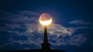 So sah die partielle Mondfinsternis aus