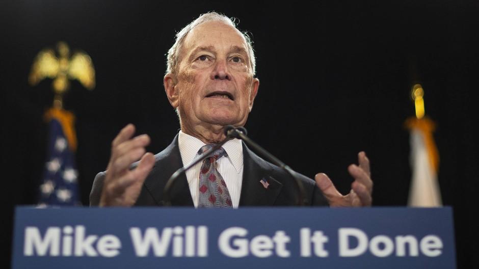 Um viele Millionen Dollar ärmer geworden: Der ehemalige Präsidentschaftskandidat und Milliardär Michael Bloomberg