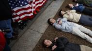 Protest für schärfere Waffengesetze vor dem Weißen Haus in Washington