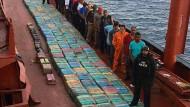 Mehr als fünf Tonnen Kokain beschlagnahmt