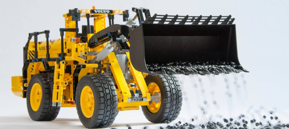 schweres ger t der radlader volvo l350f von lego. Black Bedroom Furniture Sets. Home Design Ideas