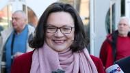 Nahles macht Groko-Werbung bei SPD-Mitgliedern