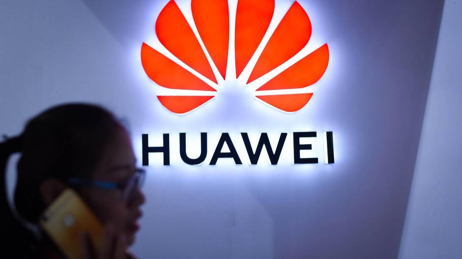 Logo des chinesischen Konzerns Huawei