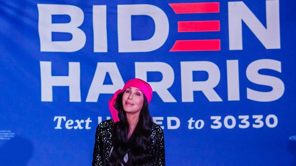 Cher tritt Ende Oktober in Phoenix bei einer Veranstaltung für die demokratischen Kandidaten Biden und Harris auf.