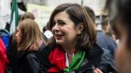 Laura Boldrini am Tag der Befreiung bei einer Demonstration in Mailand