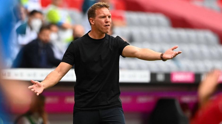 Bayerns neuer Trainer Julian Nagelsmann wartet noch immer auf den ersten Sieg mit den Münchenern.