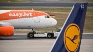 Auf der Strecke zwischen Frankfurt und Berlin hat Lufthansa Konkurrenz durch Easyjet.