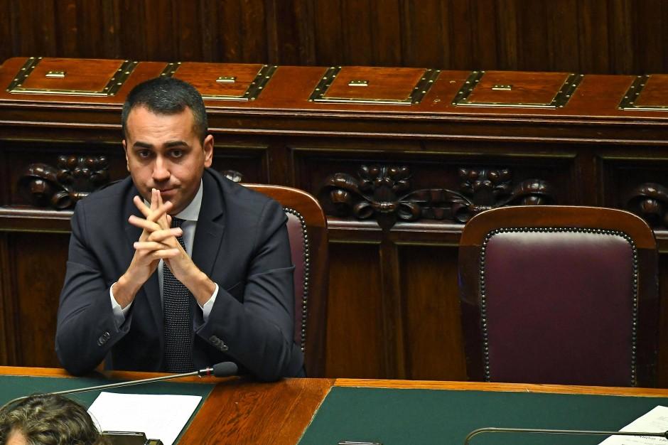 Unter Druck: Außenminister Luigi Di Maio von der Fünf-Sterne-Bewegung