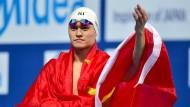 Bereits aus dem Verkehr gezogen: der chinesische Schwimmer Sun Yang