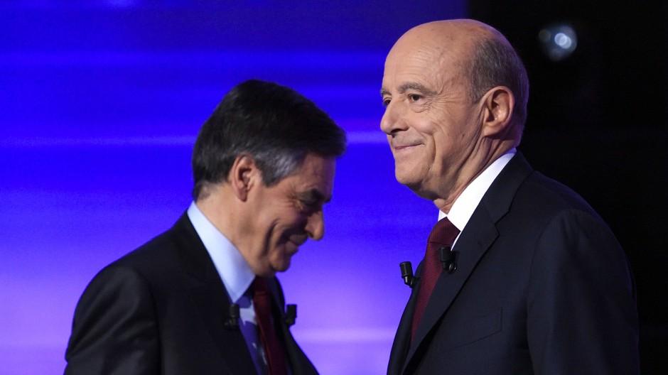 Die beiden Kandidaten für die Stichwahl der Konservativen: François Fillon und Alain Juppé