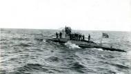 Ein U-Boot der deutschen Marine - Aufnahme aus dem Jahr 1917
