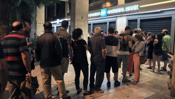 Banken bleiben bis zum 6. Juli geschlossen