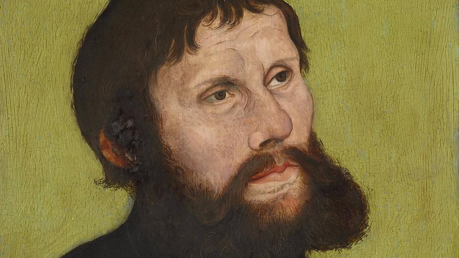 Martin Luther in einem Bild von Lucas Cranach dem Älteren