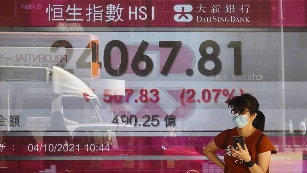 Handel mit Evergrande-Aktien in Hongkong ausgesetzt