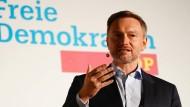 FDP-Chef Christian Lindner bei Rede am 24. September in Berlin