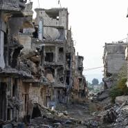Spuren des Krieges am Stadtrand von Damaskus