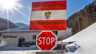 Ein Grenzübergang zwischen Österreich und Italien